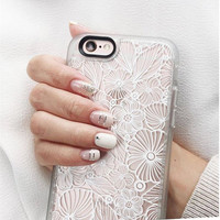 Floral iPhone 6s & 6s Plus Case (White Candy Flowers Pattern) by Casetify
