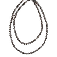 HIPCHIK Beaded Necklace in Grey   SINGER22.com