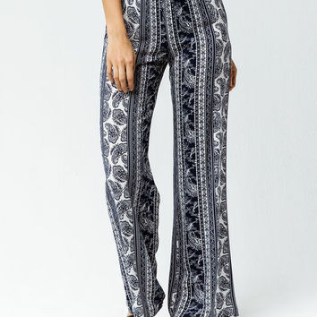 SKY AND SPARROW Linear Womens Wide Leg Pants