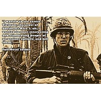 1987 matthew modine in FULL METAL JACKET movie quote poster POLITICAL 24X36