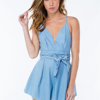 Casual Encounter Chambray Romper