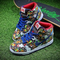 Concepts x Nike SB Dunk High Ugly Sweater Shoes 881758-446 - Best Online Sale