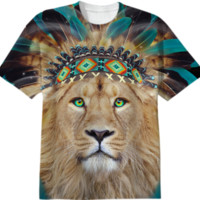 Fight For What You Love • Chief of Dreams: Lion v.2 Unisex T-Shirt II created by soaringanchordesigns   Print All Over Me