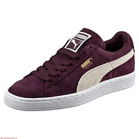 Puma Suede Classic Winetasting White 355462 40 Womens Casual Sneakers