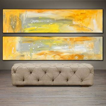 "'As The Sun Arises'- 48"" X 24"" Original Abstract  Art.  Free-shipping within USA & 30 day return."