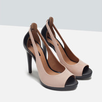 COMBINED HIGH HEEL STRAPPY SHOES