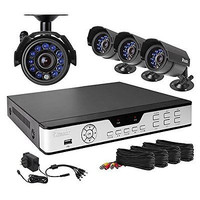 Video Surveillance Kit Security System Wired Recorder Camera Home Outdoor Work!