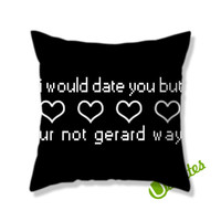 i would date you Square Pillow Cover