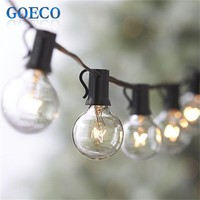 25Ft Clear Globe G40 String Light with 25 G40 Bulb Outdoor Decro Christmas Lights&Patio String Light Dancing Lighting Strings