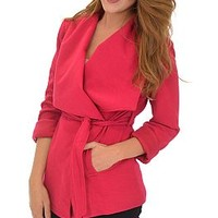 Benson Coat, Fuchsia :: NEW ARRIVALS :: The Blue Door Boutique