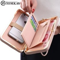 Luxury Women's Wallet Phone Bag Leather Case