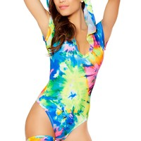 Tie Dye Hooded Bodysuit