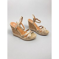 Carmela Wedge Sandal : Natural