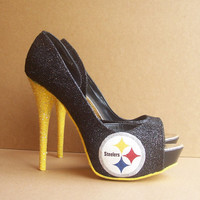 Pittsburgh Steelers High Heels by TattooedMary on Etsy