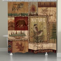 Lodge Collage II Shower Curtain