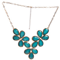 Shimmer Faceted Statement Necklace | Wet Seal