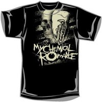 My Chemical Romance Men's  Skeletonhand T-shirt Black