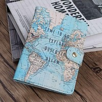 Map Passport Covers & ID Holder 14*9.6 cm
