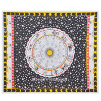 Black and White Hindu Zodiac Tapestry Wall Hanging Bedding Bedspread on RoyalFurnish.com
