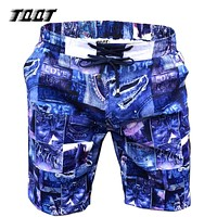 Men's Shorts Print Denim Shorts Elastic Pockets Navy Denim Board short Short Men Shorts