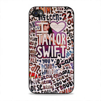 Taylor Swift Song Collage  iPhone 4/4s Case