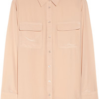 Equipment - Signature washed-silk shirt