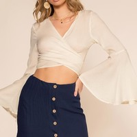 Coastin' Wrap Top - Ivory