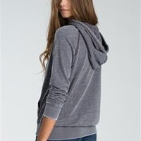 Billabong Moving On Pullover Hoodie in Off Black for Women J602CMOV