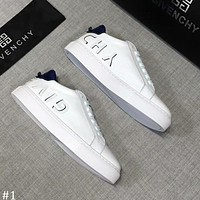 GIVENCHY 2018 autumn new casual sports men's fashion letters white shoes #1
