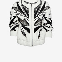 IRO DONTAE BEADED BOMBER JACKET
