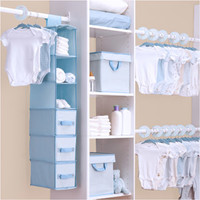 Walmart: Delta - 48-Piece Nursery Storage Set, Baby Blue