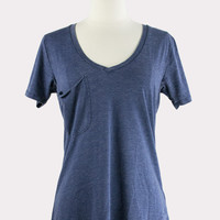 Pocket Tee in Navy Blue