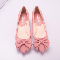 Womens Stylish Ribbon Kitten Heels