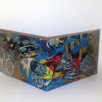 Comic Book Wallet// X-Men// Storm and Colossus