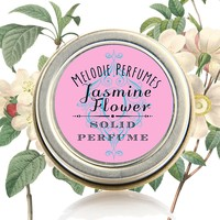 Jasmine Flower essential oil natural solid perfume by Melodie Perfume