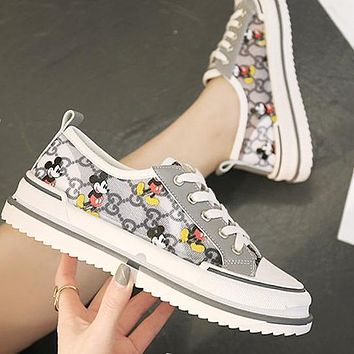 Gucci New spring lace-up mouse shoes perspective Sneakers Grey