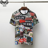 Dolce&Gabbana D&G Fashion T-Shirt Top Tee