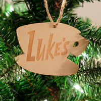 Gilmore Girls Luke's Diner Christmas Ornament (Laser Engraved) // Party Favor // Wall Decor // just in time for Netflix revival