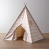 Awning Stripe Canvas Teepee Tent