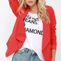Totally Boss Cropped Red Blazer