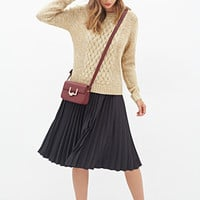 FOREVER 21 Cable Knit Front Sweater