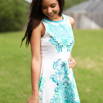 May Flowers Dress - Mint