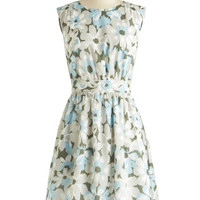 Emily and Fin Too Much Fun Dress in Dew Blossoms | Mod Retro Vintage Dresses | ModCloth.com