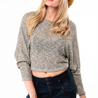 Hint Of Gold Knit Crop Top