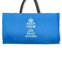 Keep Calm and Love Police Officers Weekender Totes