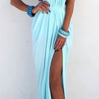 ELDA MAXI DRESS in PASTEL MINT