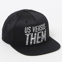 Us Vs.Them Hell Fire Snapback Hat - Mens Backpack - Black - One