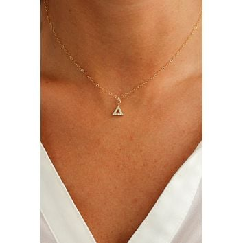 Shining Pyramid Necklace - Christine Elizabeth Jewelry