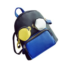 Funny Cute Mini Patchwork Backpack