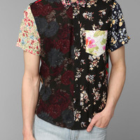 Urban Renewal Patched Floral Short-Sleeve Shirt